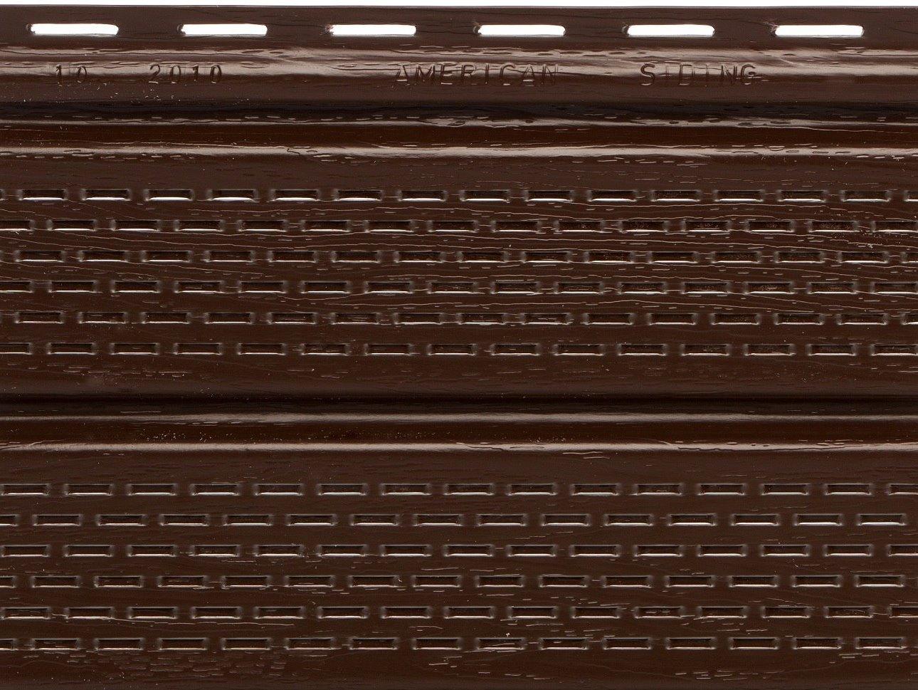 Шоколадный перфорированный софит «American siding» Турция